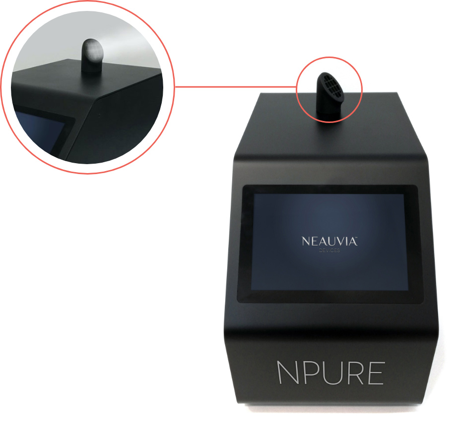 NPure device with closeup